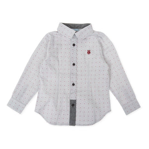 Grey Polka Dot Shirt - Petit Maison Kids