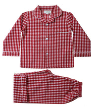 Charlie Red Checkered Pajamas - Petit Maison Kids