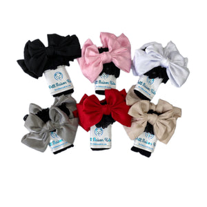 Lola Black Lace Socks with Satin Bows - Petit Maison Kids