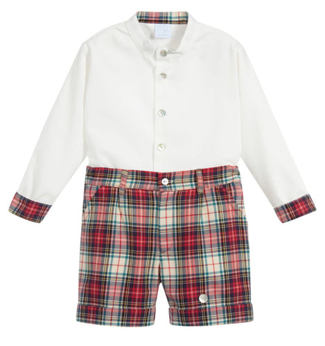 Tartan Boys Short Set