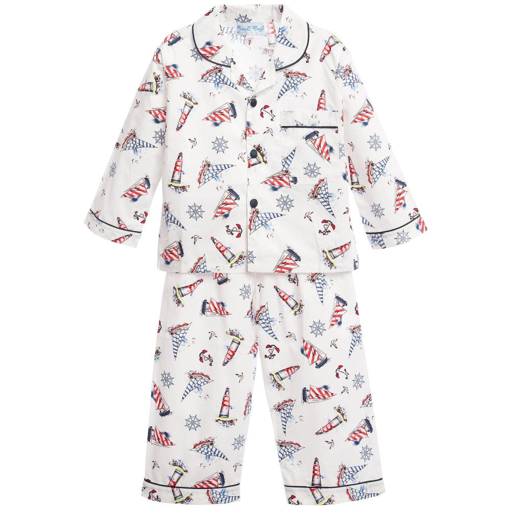 Nautical Traditional Style Pajamas - Petit Maison Kids