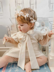 Magnolia Flower Hair Sash