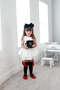 Lola Black Lace Socks with Satin Bows