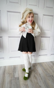 Knee High Socks with Satin Bows - Petit Maison Kids
