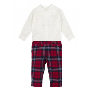 Monte Top and Plaid Pants Set