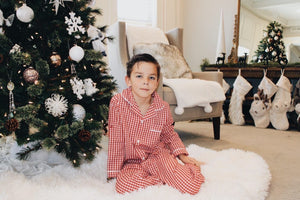 Charlie Red Checkered Pajamas
