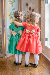 Louise Satin Dress - Petit Maison Kids