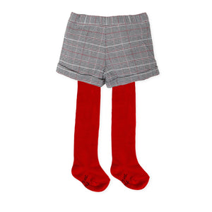 Checkered Grey Shorts and Tights - Petit Maison Kids