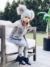 Angora Wool Double Pom Hat - Petit Maison Kids