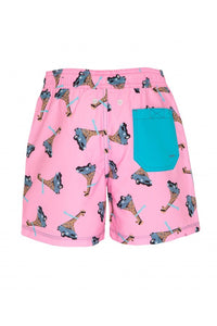 Pink Giraffe Swim Trunks - Petit Maison Kids
