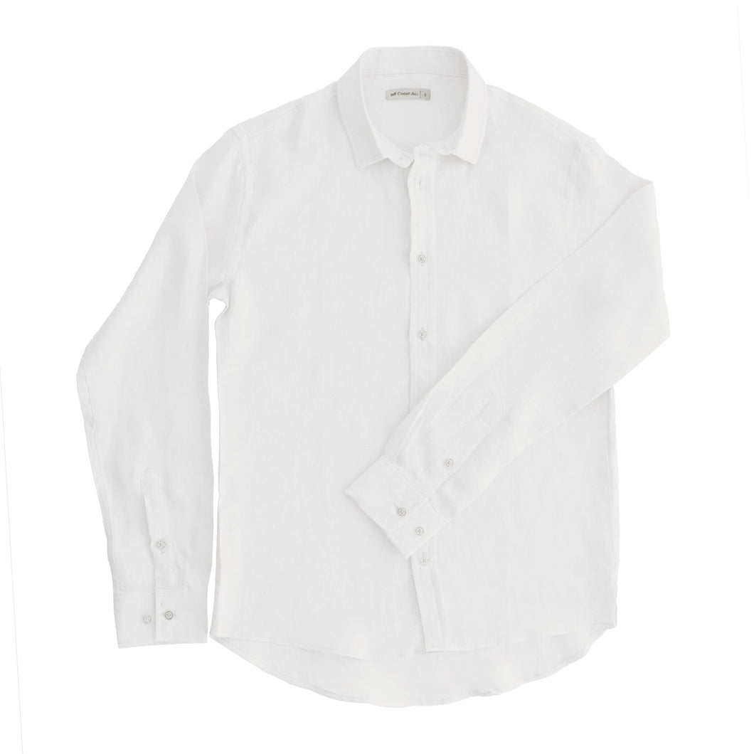 Dad White Linen Shirt - Petit Maison Kids
