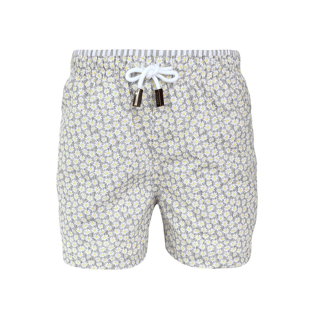 Grey Daisies Swim Trunks - Petit Maison Kids