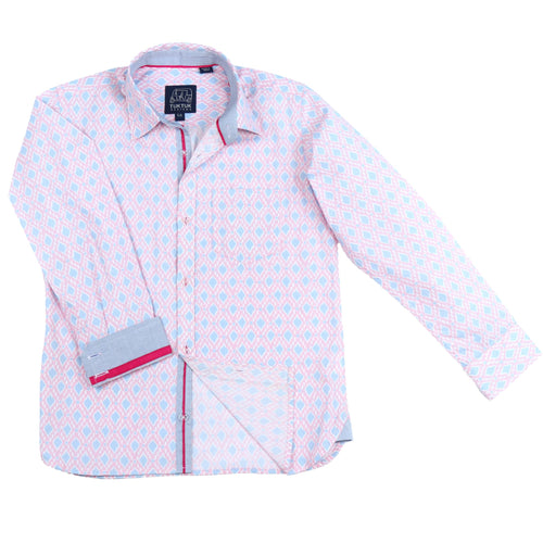 Pink Graphics Dress Shirt - Petit Maison Kids