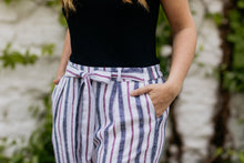 Load image into Gallery viewer, Sara Linen Stripe Pants