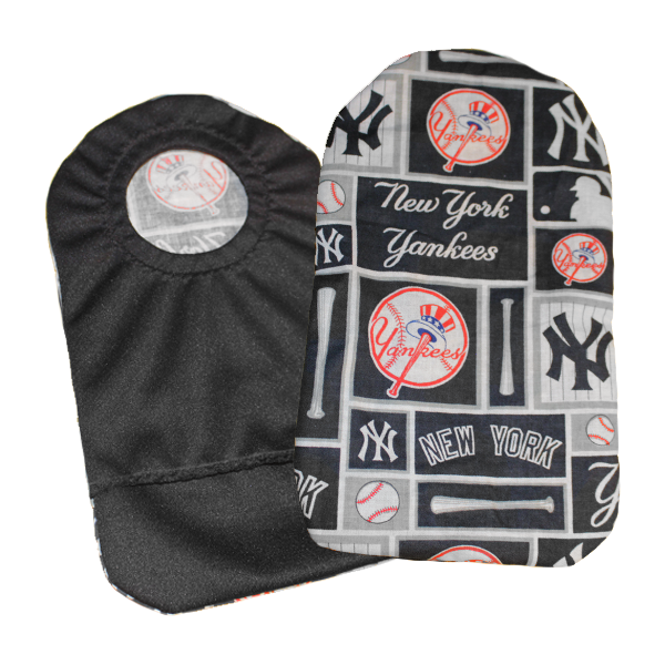 Baseball Fabric Ostomy Pouch Cover | New York Yankees