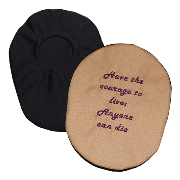 Inspirational Embroidered Ostomy Pouch Cover