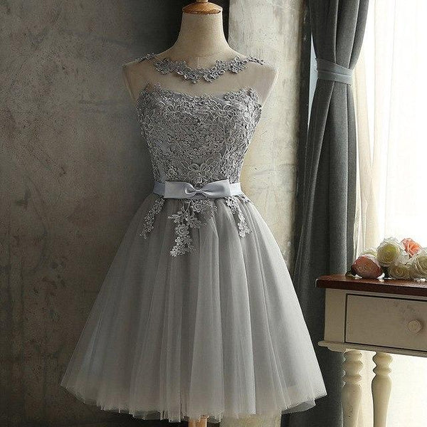 Wedding Bridesmaids Lace Romantic Dress