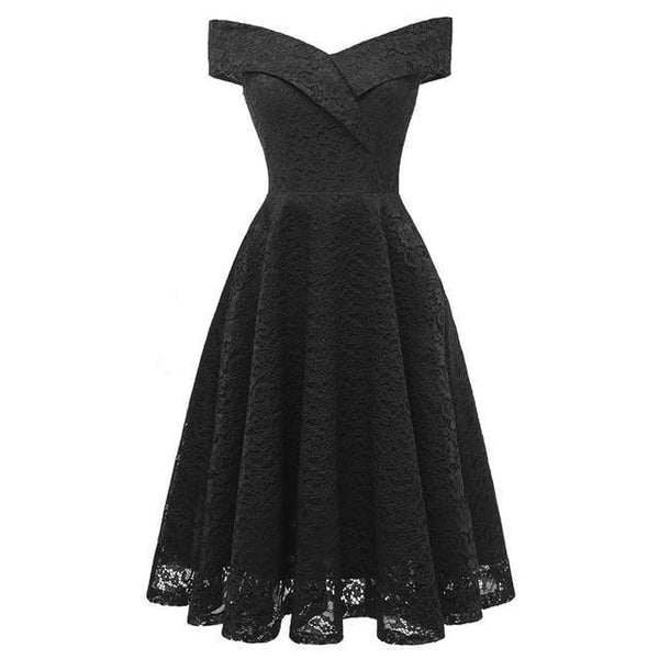 Lace A-line Cocktail Dress