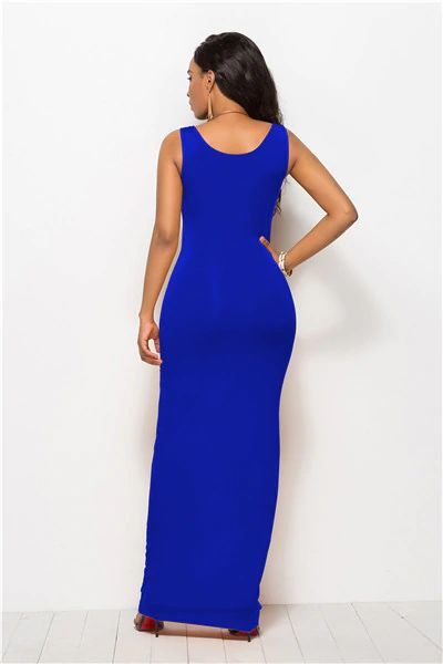 Stretchy Fit Maxi Dress (14 Colors) - MaestosoRosso_Fashion_Store