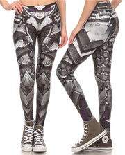 Comic Book/Steampunk Printed Leggings - MaestosoRosso_Fashion_Store