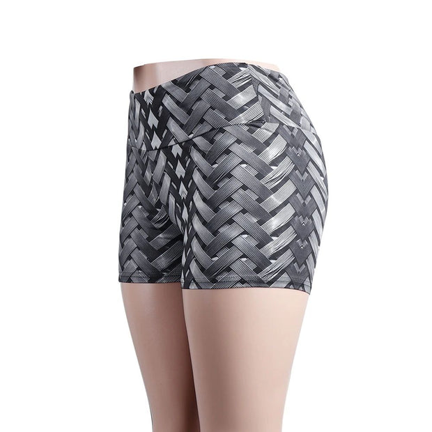 Criss-Cross Pattern Leggings - MaestosoRosso_Fashion_Store