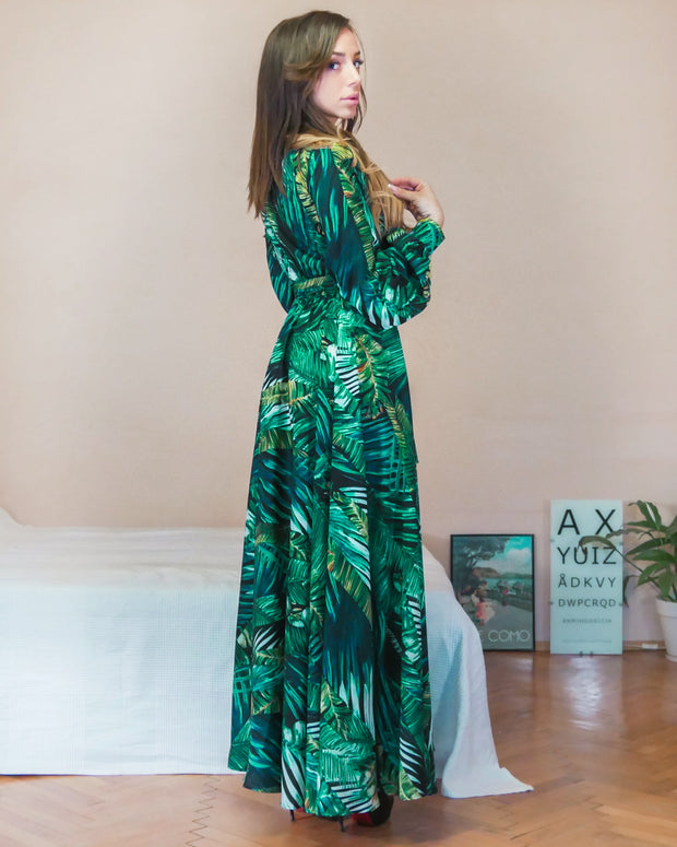 Tropical Boho Maxi Dress - MaestosoRosso_Fashion_Store