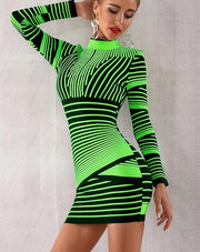 Neon Club Bandage Dress - MaestosoRosso_Fashion_Store