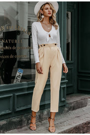 Casual Apricot Pants - MaestosoRosso_Fashion_Store