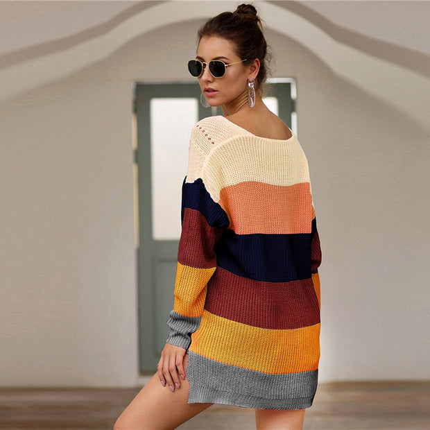Oversized Rainbow Sweaters - MaestosoRosso_Fashion_Store