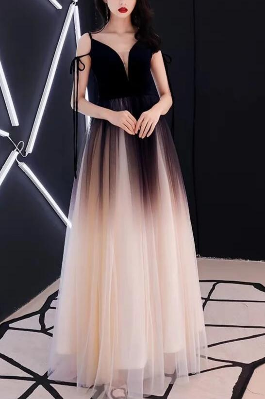 Fairy Tale Gradient Evening Dress - MaestosoRosso_Fashion_Store