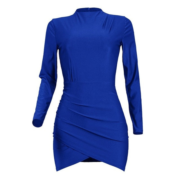 Long Sleeve Mini Bandage Dress - MaestosoRosso_Fashion_Store