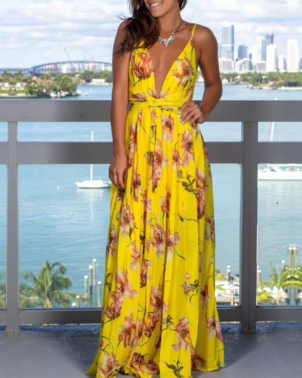 Simple Boho Maxi Dress - MaestosoRosso_Fashion_Store