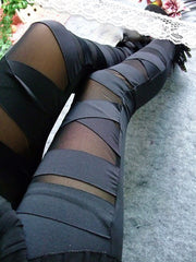 Criss-Cross Bandage Leggings - MaestosoRosso_Fashion_Store