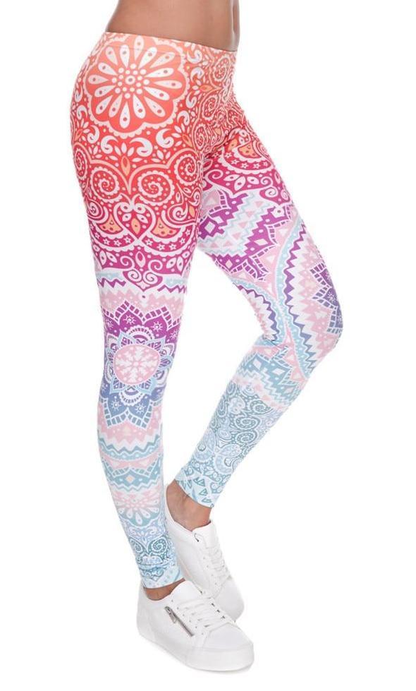 Ornament Print Leggings (Various Designs) - MaestosoRosso_Fashion_Store