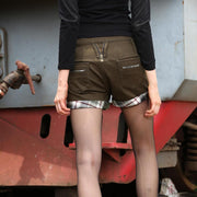 Casual Army Green Shorts - MaestosoRosso_Fashion_Store