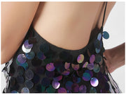 Large Sequin Mini Dress - MaestosoRosso_Fashion_Store