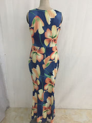 Flowers Pattern V-Neck Maxi Dress - MaestosoRosso_Fashion_Store