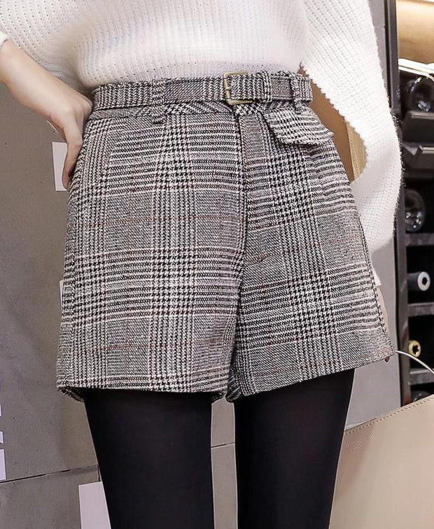 Vintage Checkered Shorts - MaestosoRosso_Fashion_Store