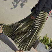 Pleated Maxi Skirt - MaestosoRosso_Fashion_Store