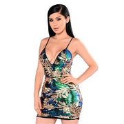 Flora Sequins Mini Dress - MaestosoRosso_Fashion_Store