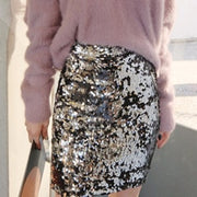 High Waisted Sequin Slim Skirt - MaestosoRosso_Fashion_Store