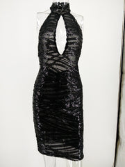 See Through Sequin Party Dress - MaestosoRosso_Fashion_Store