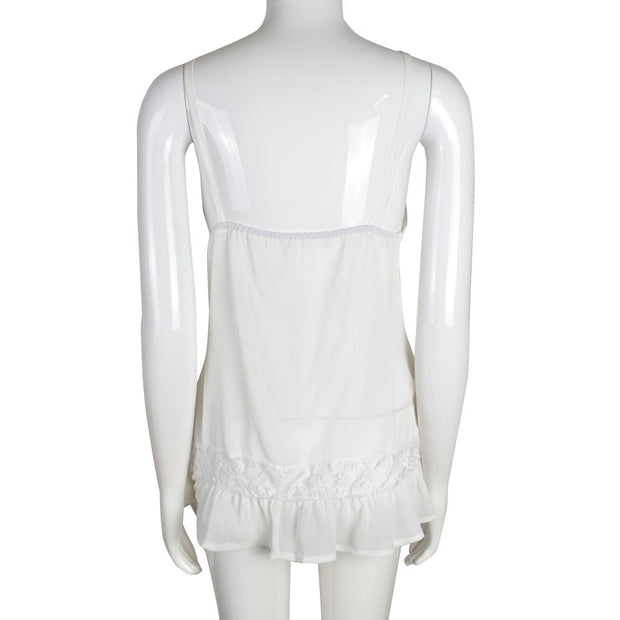 Sleeveless Lace Chiffon Top - MaestosoRosso_Fashion_Store