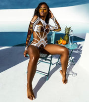 African Print Swimsuit - MaestosoRosso_Fashion_Store