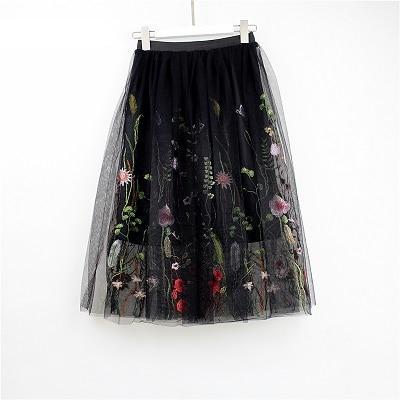 Midi Tulle Layered Skirt - MaestosoRosso_Fashion_Store