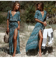 Bohemian Vintage Long Dress - MaestosoRosso_Fashion_Store
