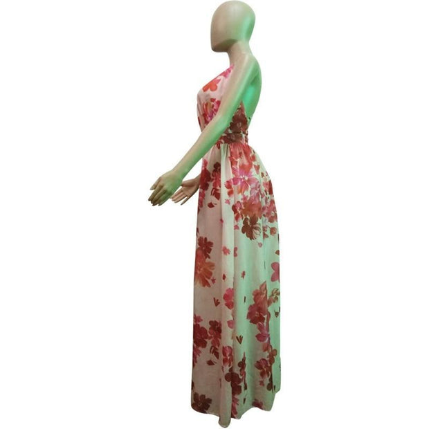 Tropical Floral Maxi Dress - MaestosoRosso_Fashion_Store