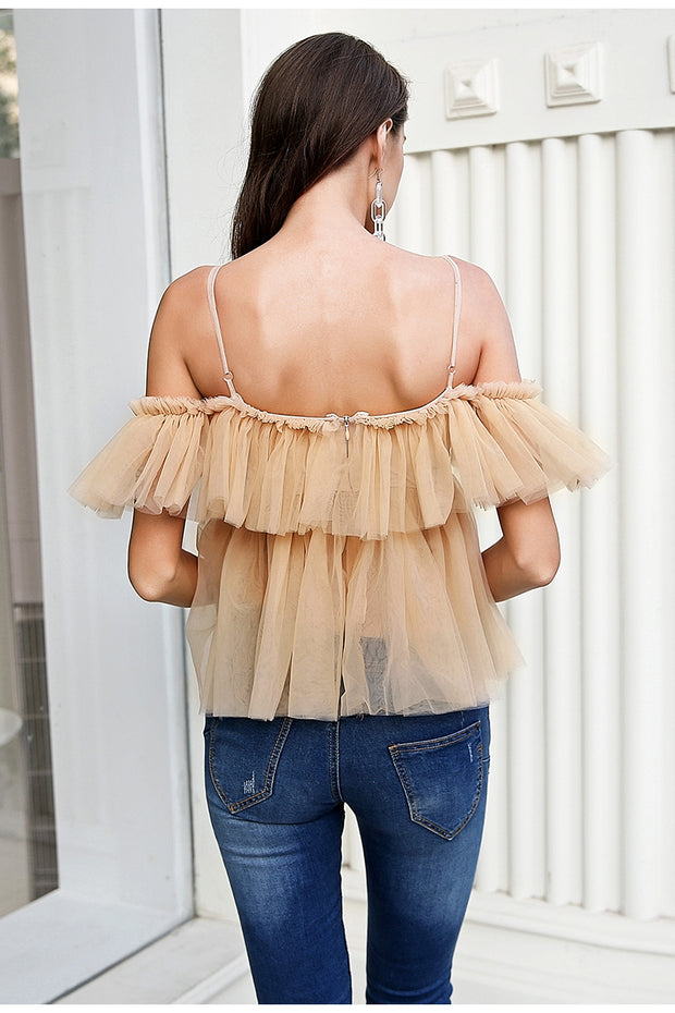 Avantgarde Ruffle Layered Romantic Top - MaestosoRosso_Fashion_Store