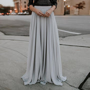 Maxi Tulle Pleated Skirt - MaestosoRosso_Fashion_Store