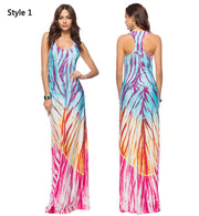 Casual Beach Pattern Maxi Dress - MaestosoRosso_Fashion_Store
